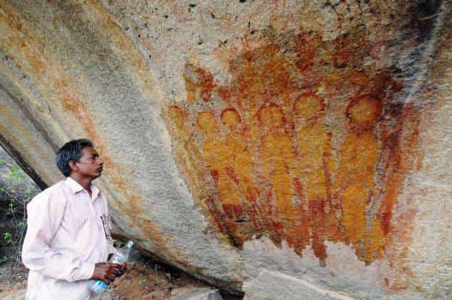 Extraterrestre en pinturas de la India