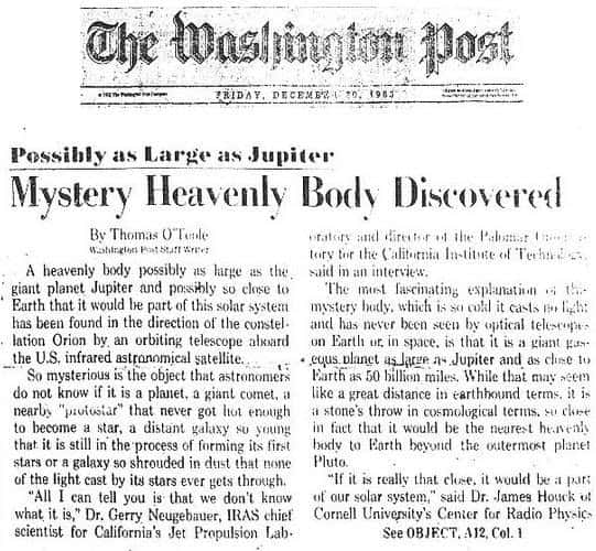 Mystery Heavenly Body Discovered